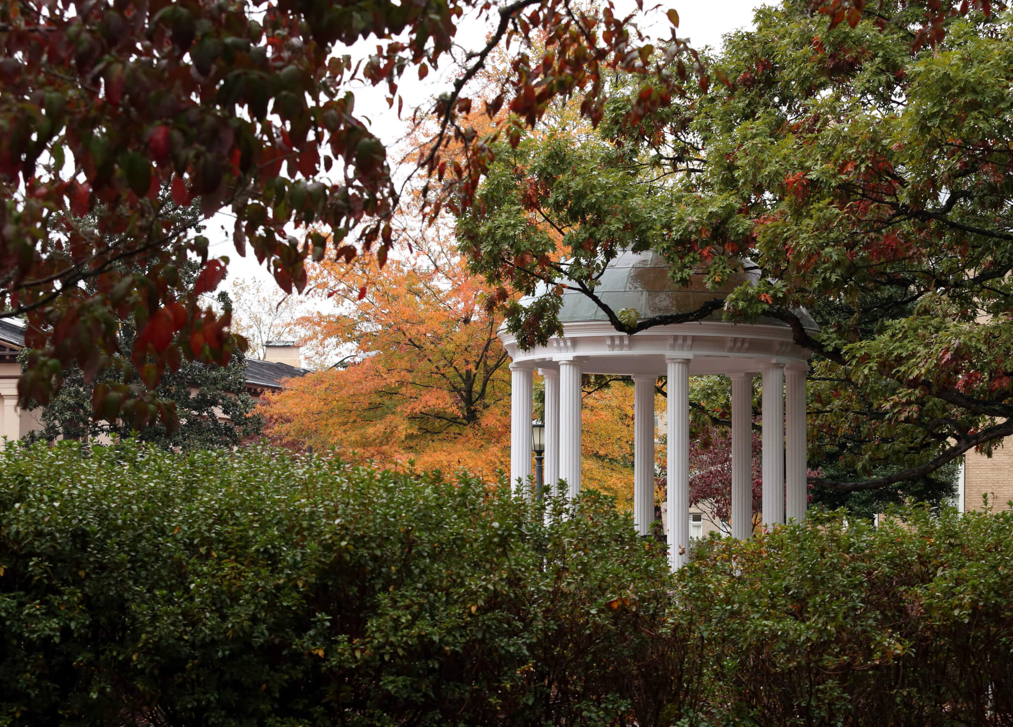 Old Well with fall leaves in the background